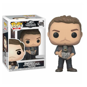 Figurine Pop! Owen Avec Bébé Raptor EXC - Jurassic World 2
