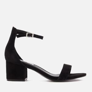 Steve Madden Women's Irenee Suede Block Heeled Sandals - Black