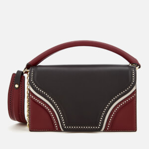 Diane von Furstenberg Women's Bonne Soiree Cut Out Bag - Black/Wine/Sable