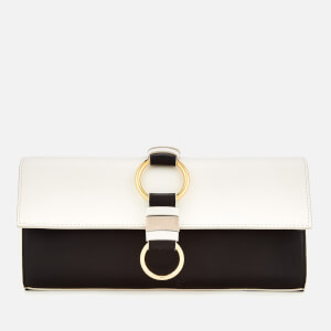 Diane von Furstenberg Women's Slim Clutch Bag - Black/White/Pebble