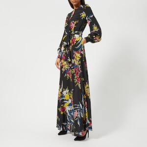Diane von Furstenberg Women's Waist Tie Maxi Dress - Camden Black