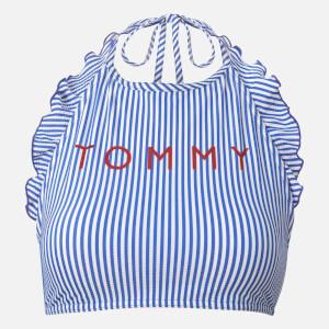 Tommy Hilfiger Women's Crop Top Bikini - Blue