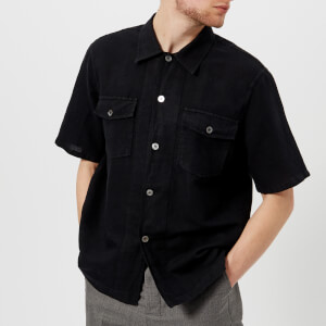 Our Legacy Men's Chamois Short Sleeve Shirt - Black
