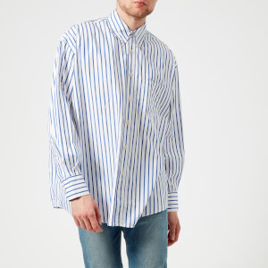 Our Legacy Men's Borrowed Buttoned Down Shirt - Blue Candy Stripe