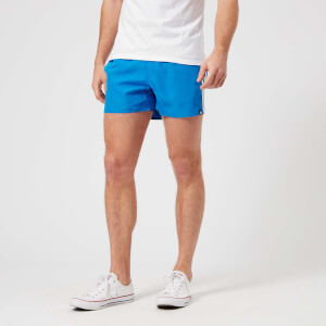 adidas Men's 3 Stripe VSL Swim Shorts - Bright Blue