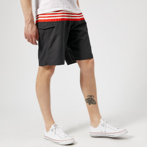 adidas Men's 3 Stripe Colour Block Swim Shorts - Carbon
