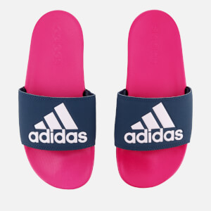 adidas Women's Adilette Logo Slide Sandals - Shock Pink