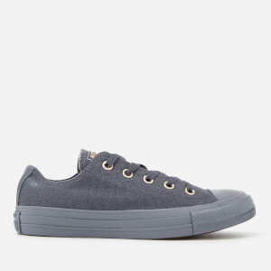 Converse Women's Chuck Taylor All Star Ox Trainers - Light Carbon/Gold