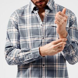 Barbour Men's Elver Checked Shirt - Navy