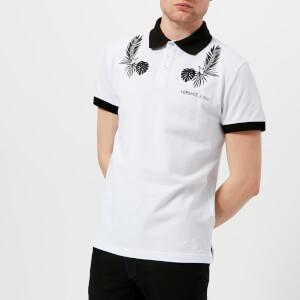 Versace Jeans Men's Reverse Print Polo Shirt - Bianco