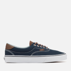 Vans Men's Era 59 Canvas/Leather Trainers - Dress Blues/Acid Denim
