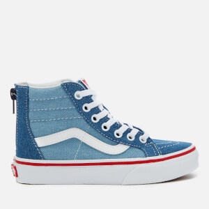 Vans Kids' 2 Tone Denim Sk8-Hi Zip Trainers - Blue/True White