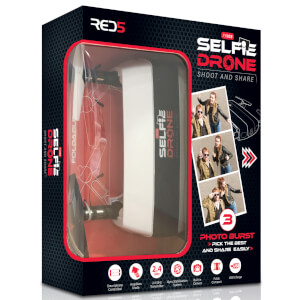RED5 Selfie Drone Shoot and Share - White/Black