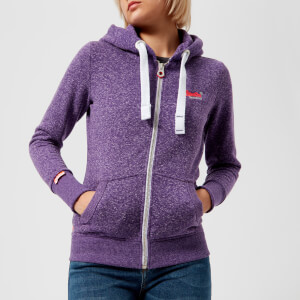 Superdry Women's Orange Label Primary Zip Hoody - Gumball Purple Snowy