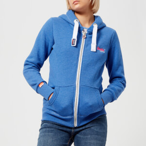 Superdry Women's Orange Label Primary Zip Hoody - Boardwalk Blue Marl