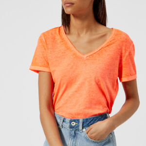 Superdry Women's Burnout Vee T-Shirt - Neon Coral
