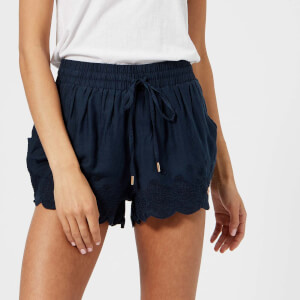 Superdry Women's Jenna Embroidered Edge Shorts - Eclipse Navy