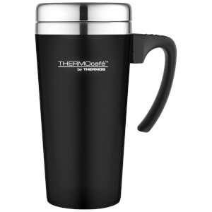 Thermos ThermoCafe Soft Touch Travel Mug - Black - 420ml
