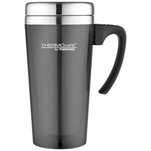 Thermos ThermoCafe Translucent Travel Mug - Gun Metal 420ml
