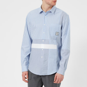 Wooyoungmi Men's Patchwork Shirt - Blue