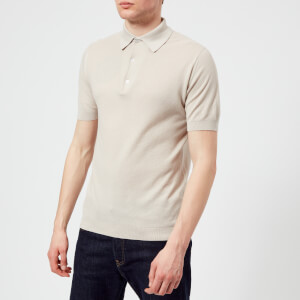 John Smedley Men's Roth 30 Gauge Sea Island Cotton Polo Shirt - Brunel Beige