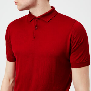 John Smedley Men's Payton 30 Gauge Merino Short Sleeve Polo Shirt - Dandy Red