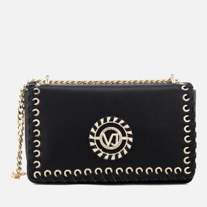 Versace Jeans Women's Whip Stitched Shoulder Bag - Black
