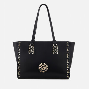 Versace Jeans Women's Whip Stitched Tote Bag - Black