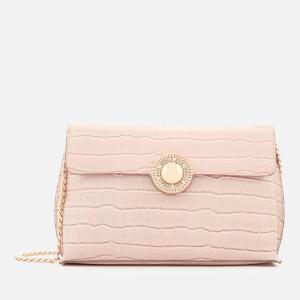Versace Jeans Women's Croc Print Shoulder Bag - Pink
