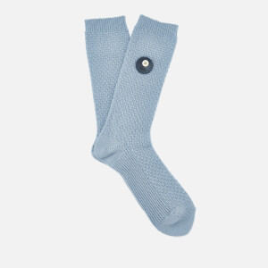 Folk Men's Waffle Socks - Blue