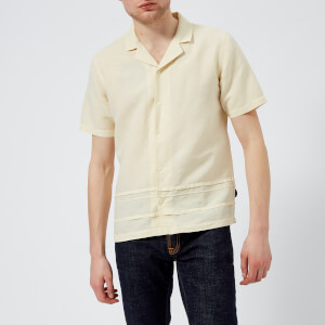 Folk Men's Horizon Short Sleeve Shirt - Soft Yellow