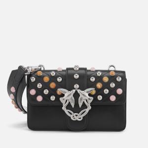 Pinko Women's Mini Love Stones Shoulder Bag - Black