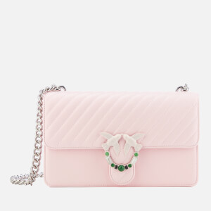 Pinko Women's Love Quilting Cross Body Bag - Pink