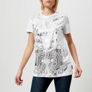 Versace Jeans Women's Foil Logo Print T-Shirt - White