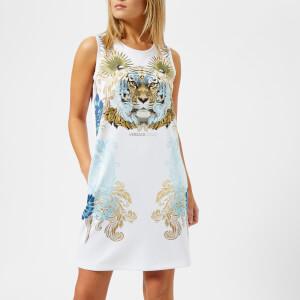 Versace Jeans Women's Tiger Print T-Shirt Dress - White