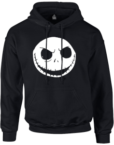 The Nightmare Before Christmas Jack Skellington Schwarz Pullover Kapuzenpullover