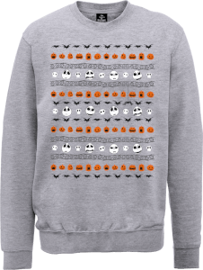 Disney The Nightmare Before Christmas Jack Pumpkin Faces Grey Sweatshirt