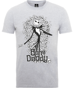 T-Shirt Disney The Nightmare Before Christmas Jack Skellington Bone Daddy Grey