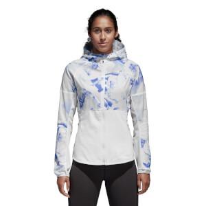 adidas Women's Ultra Graphic Jacket - White/Blue