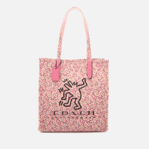 Coach 1941 Women's Coach X Keith Haring Print Tote Bag - Bright Pink