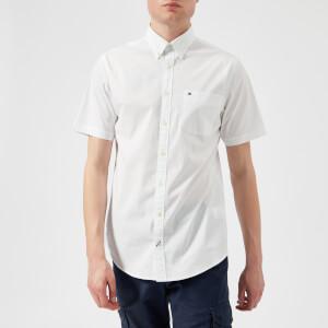 Tommy Hilfiger Men's Stretch Poplin Short Sleeve Shirt - Bright White