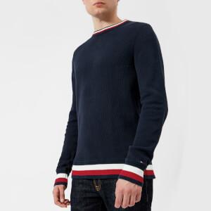 Tommy Hilfiger Men's Chunky Knitted Jumper - Navy Blazer