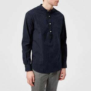 Officine Générale Men's Auguste Japanese Cotton Shirt - Navy