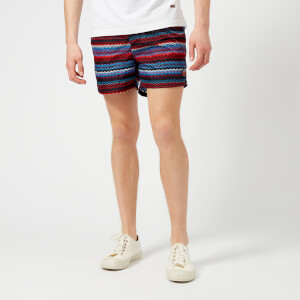 Missoni Men's Zig Zag Print Swim Shorts - Blue/Multi