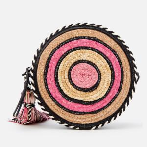 Rebecca Minkoff Women's Straw Circle Cross Body Bag - Pink Multi