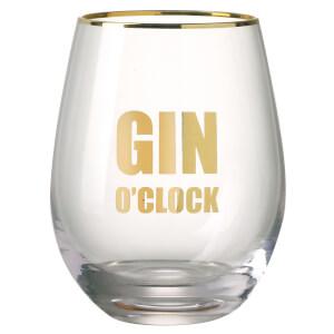 Parlane Gin O'Clock Glass - Clear/Gold