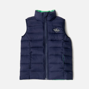Joules Boys' Crofton Padded Gilet - French Navy