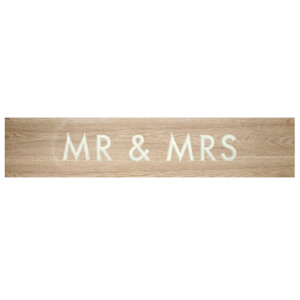 Parlane Mr. and Mrs. Wood Wall Art - Natural