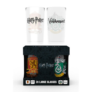 Harry Potter Crests Large Glasses Twin Pack