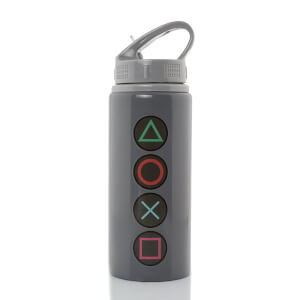 PlayStation Button Aluminium Drink Bottle